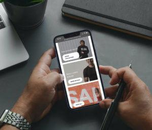 Front-Commerce Online Demo screenshot on mobile